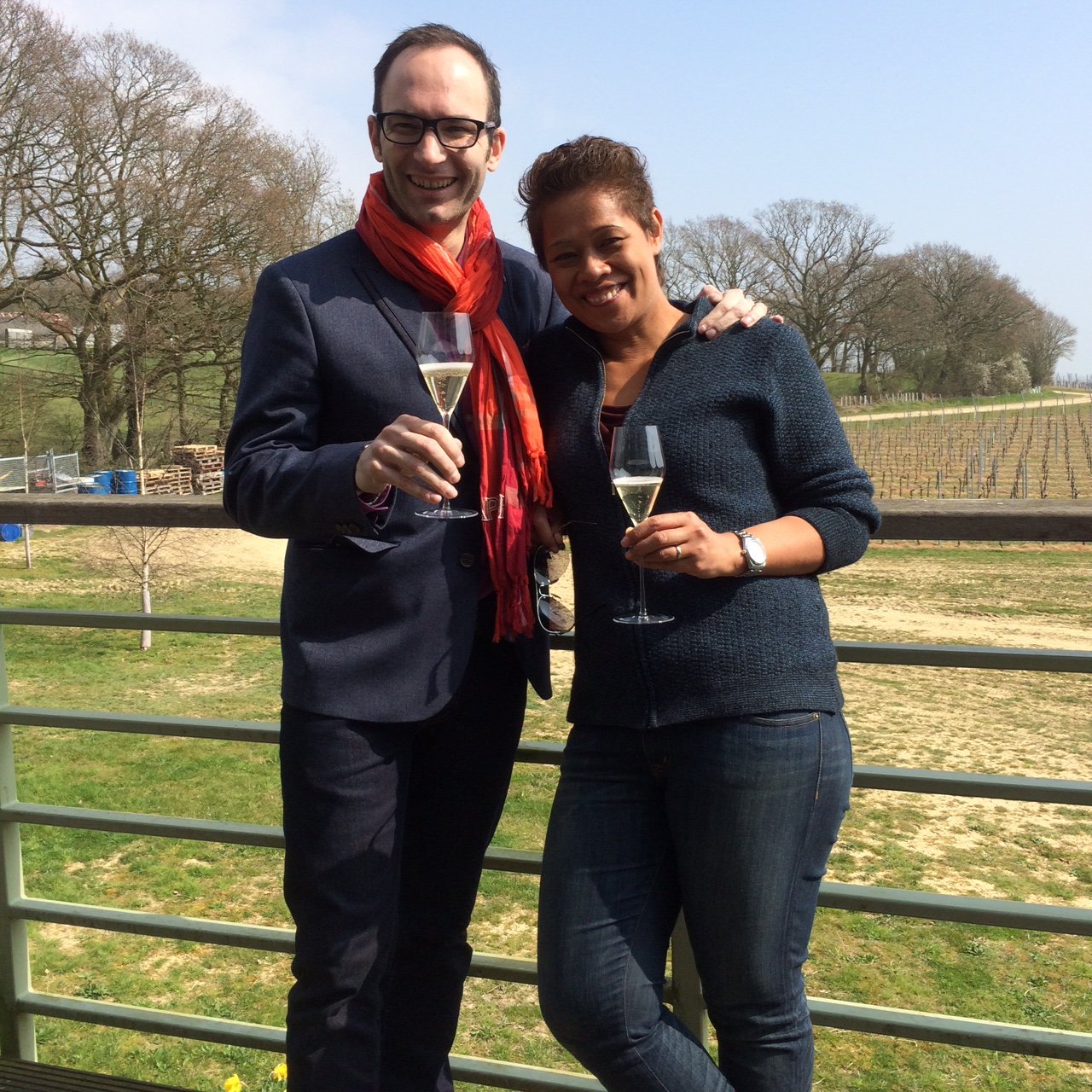 Square Events news - visit to gusbourne estate with Monica and David Galetti