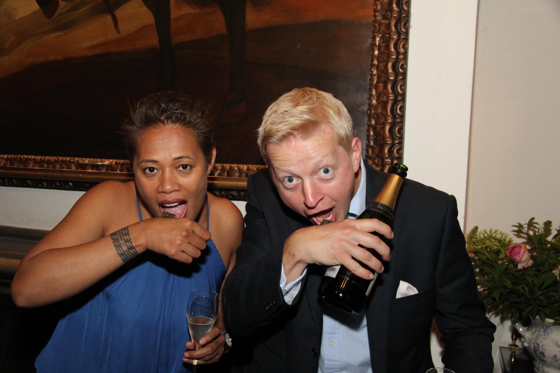 Monica Galetti, pictured with Ben Walgate CEO Gusbourne Estates