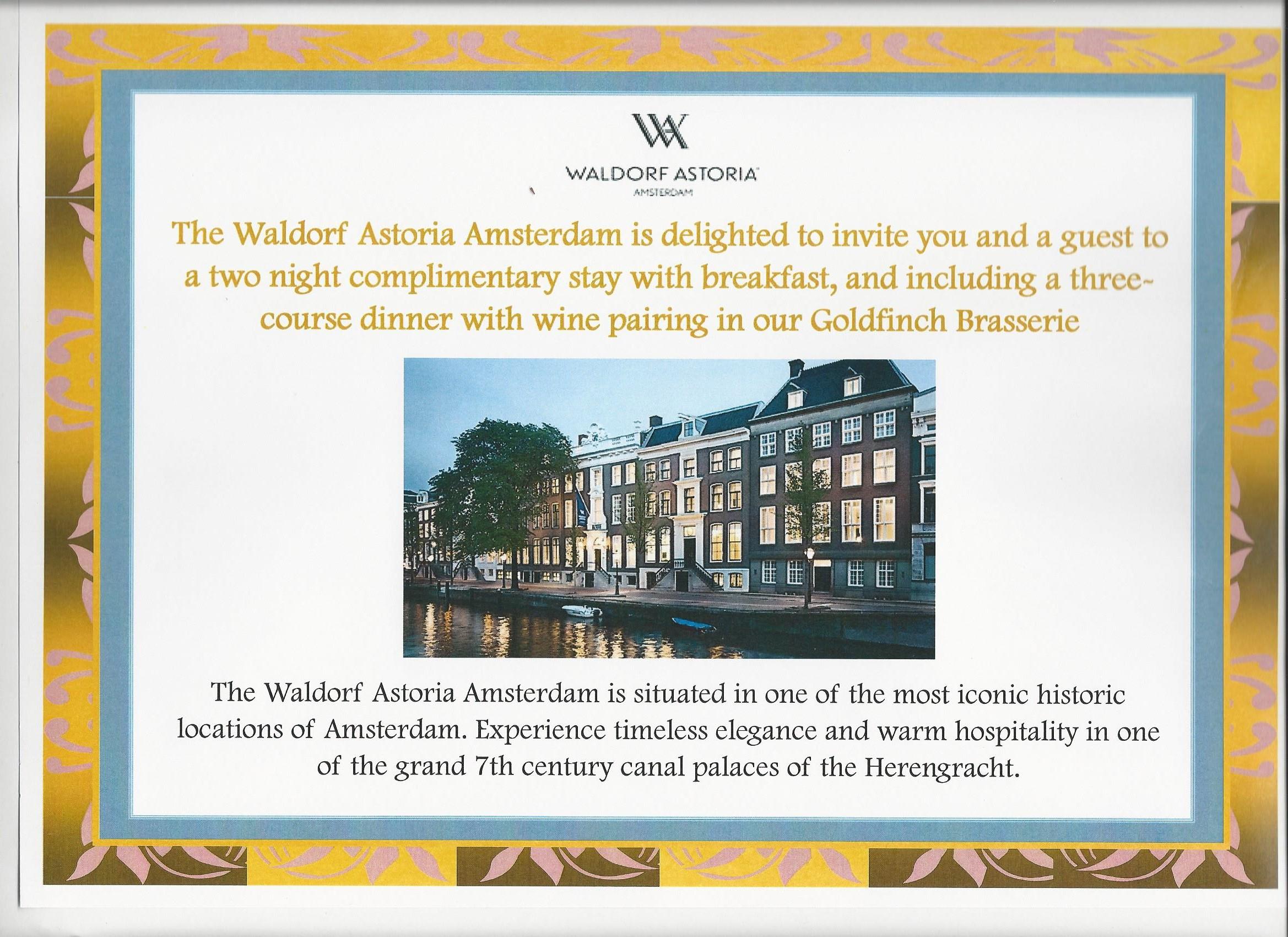 Square Events - Waldorf Astoria, Amsterdam