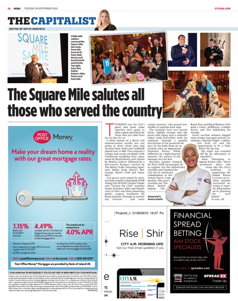 Square Events - City AM 28 Sept