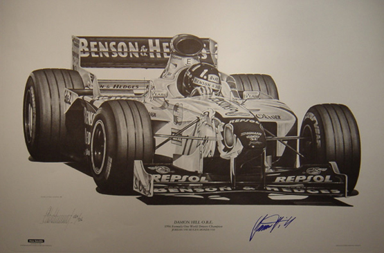 Square Events - Damon Hill print