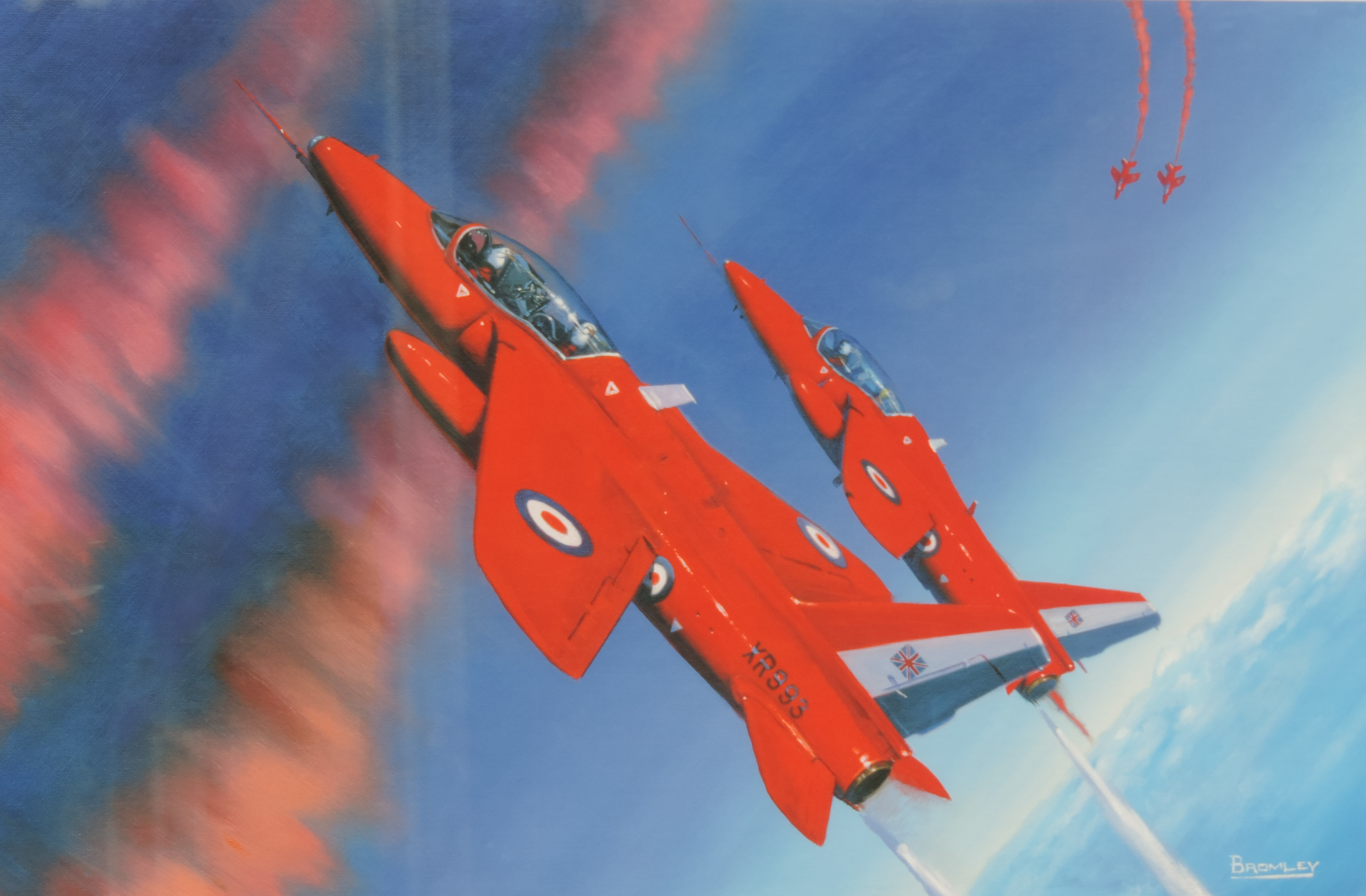 Square Events - Red Arrows Painting