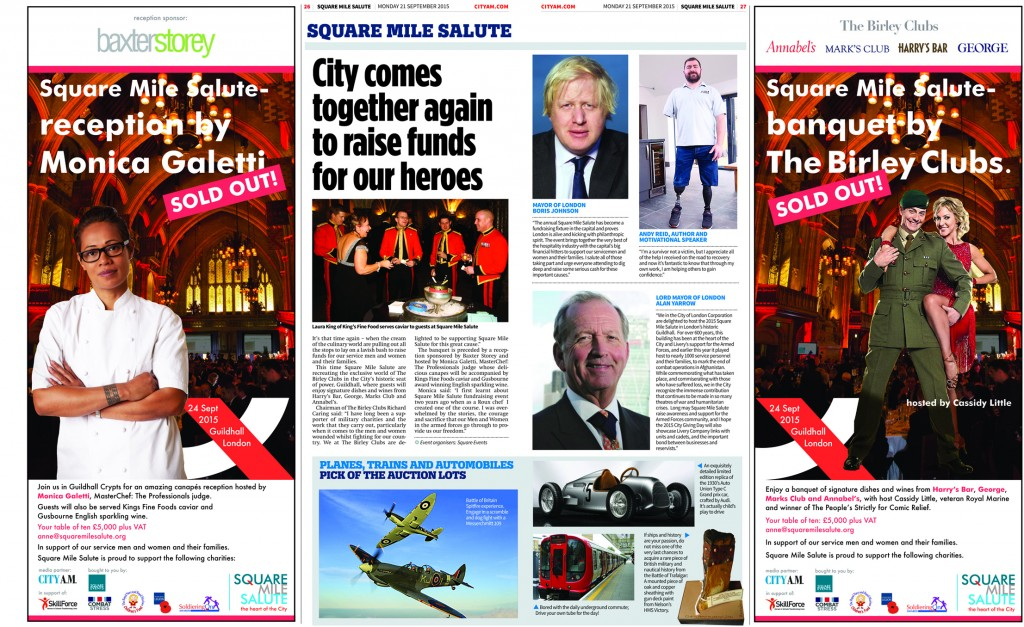 Square Events - City A.M spread 21 Sept