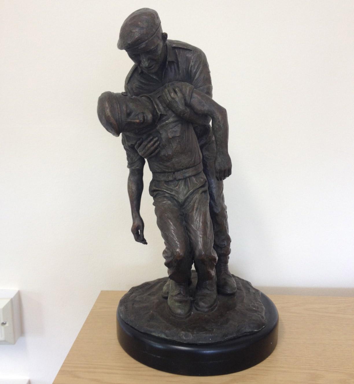 18″ bronze statue