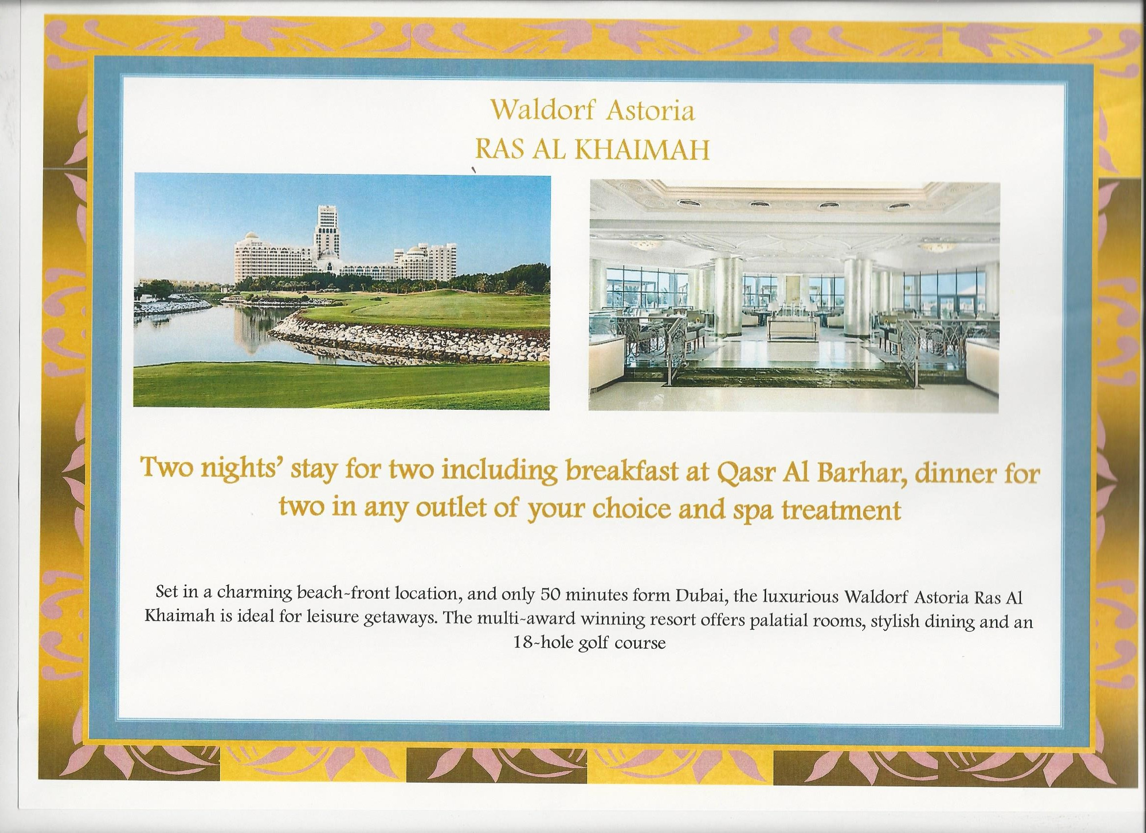 Waldorf Astoria Ras Al Khaimah, UAE