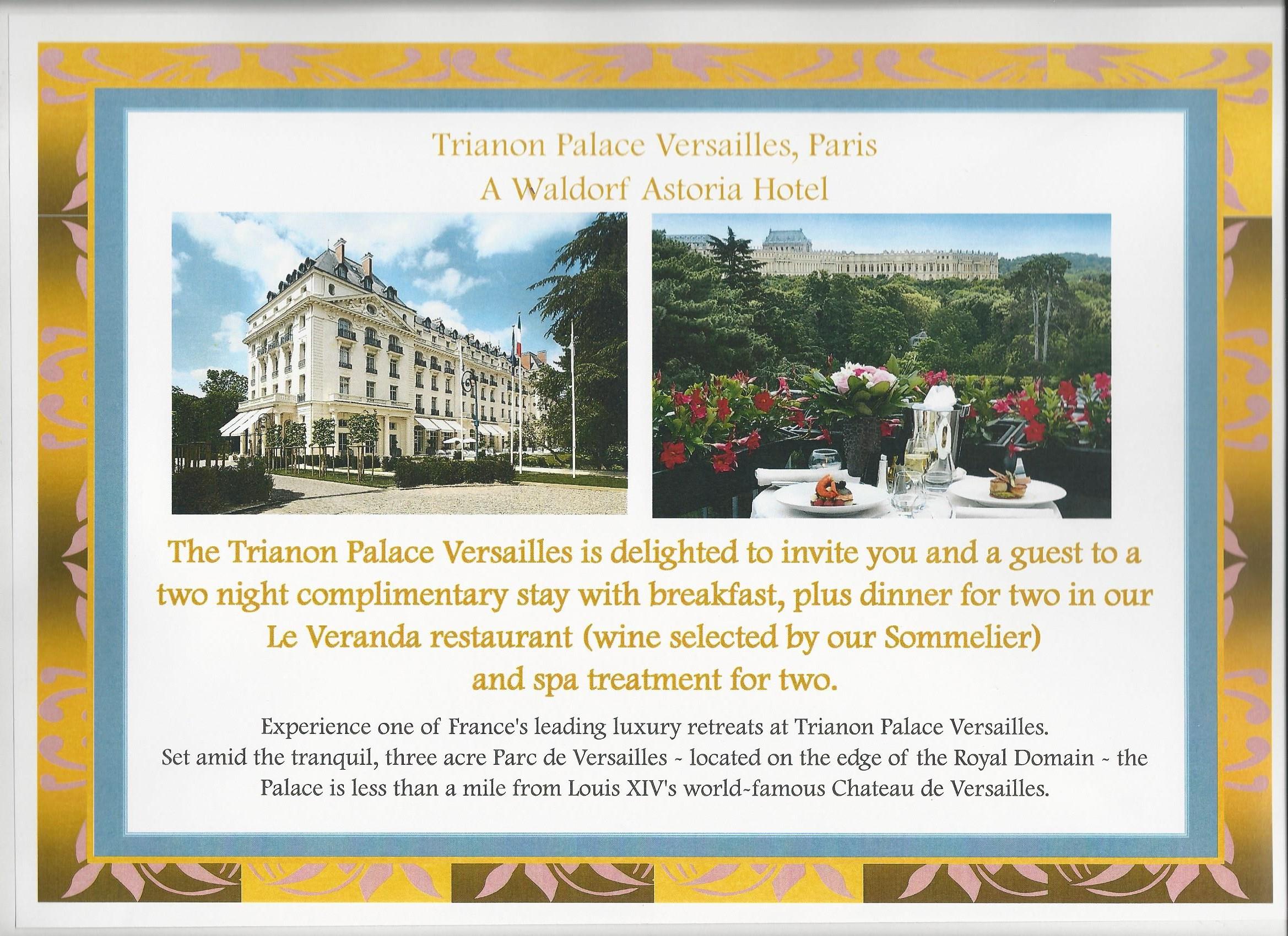 Trianon Palace Versailles, Paris. A Waldorf Astoria hotel