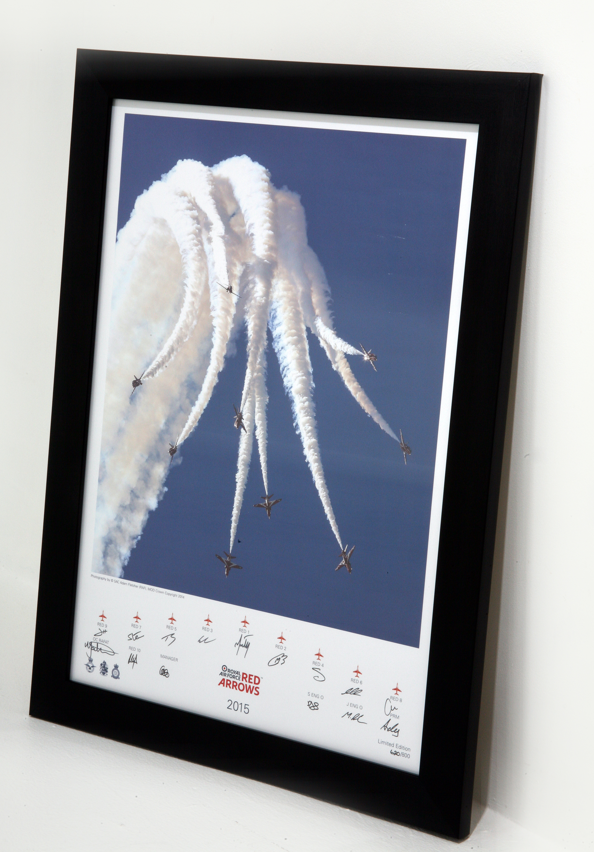 Limited Edition signed Red Arrows print