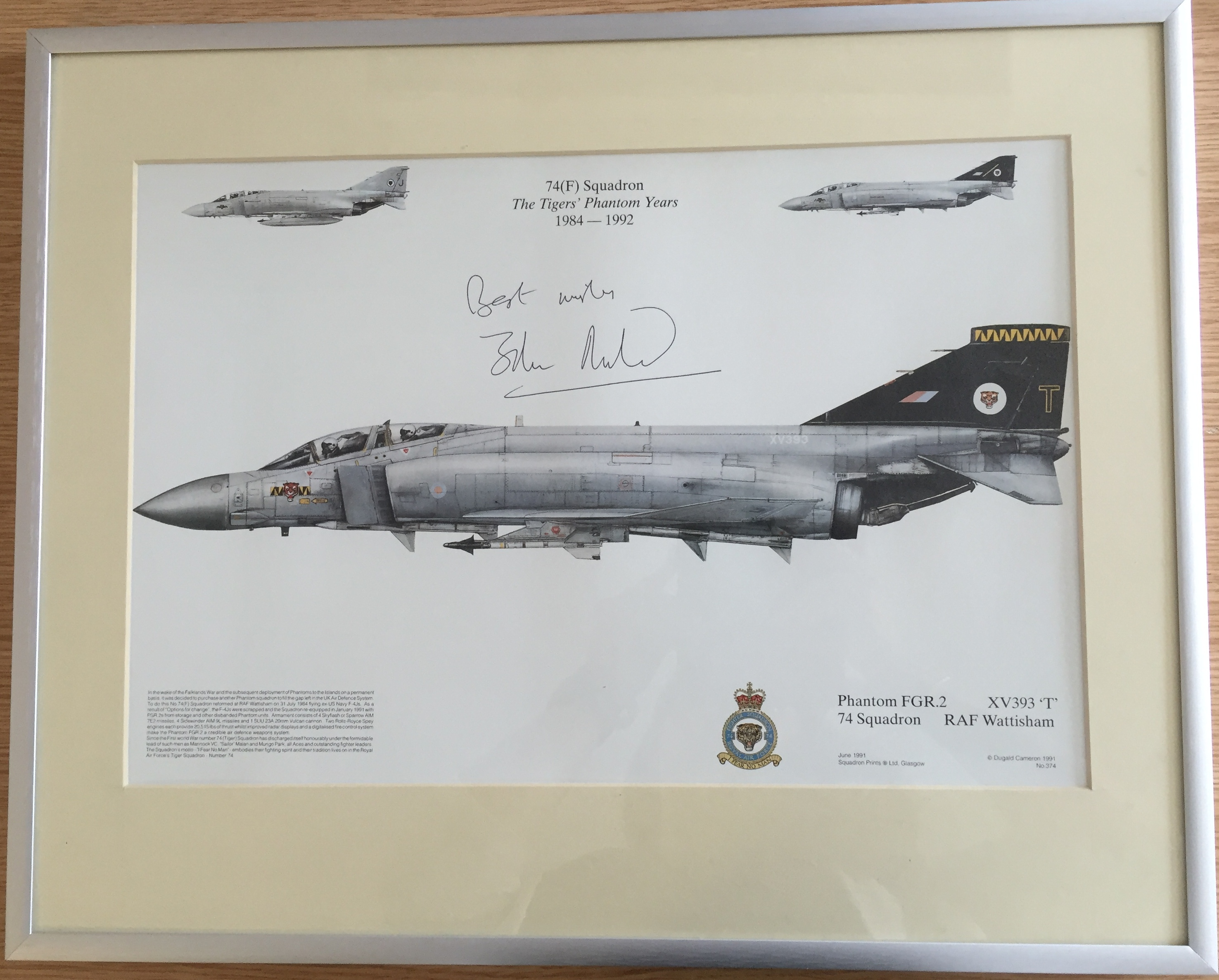 Phantom aircraft print by Dugald Cameron
