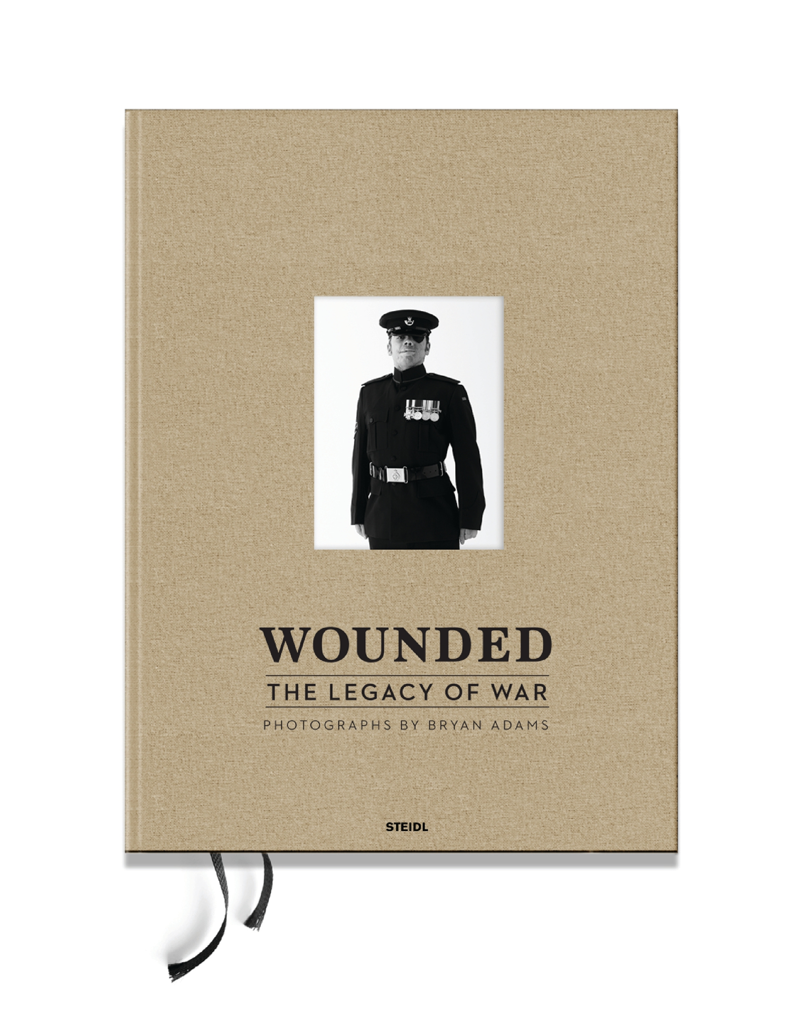 Bryan Adams signed book – Wounded: The Legacy of War