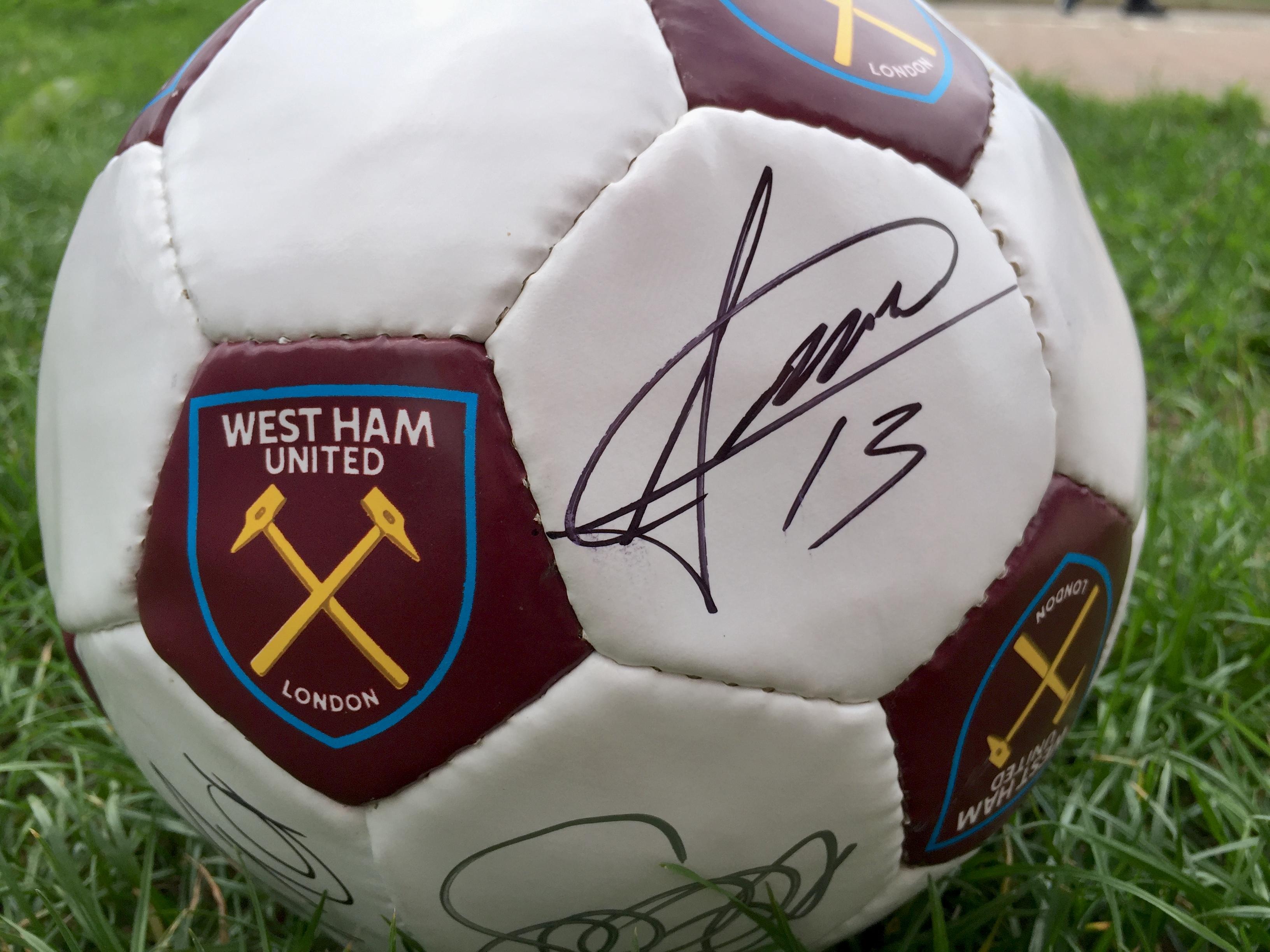 West Ham United FC Signed Team Football