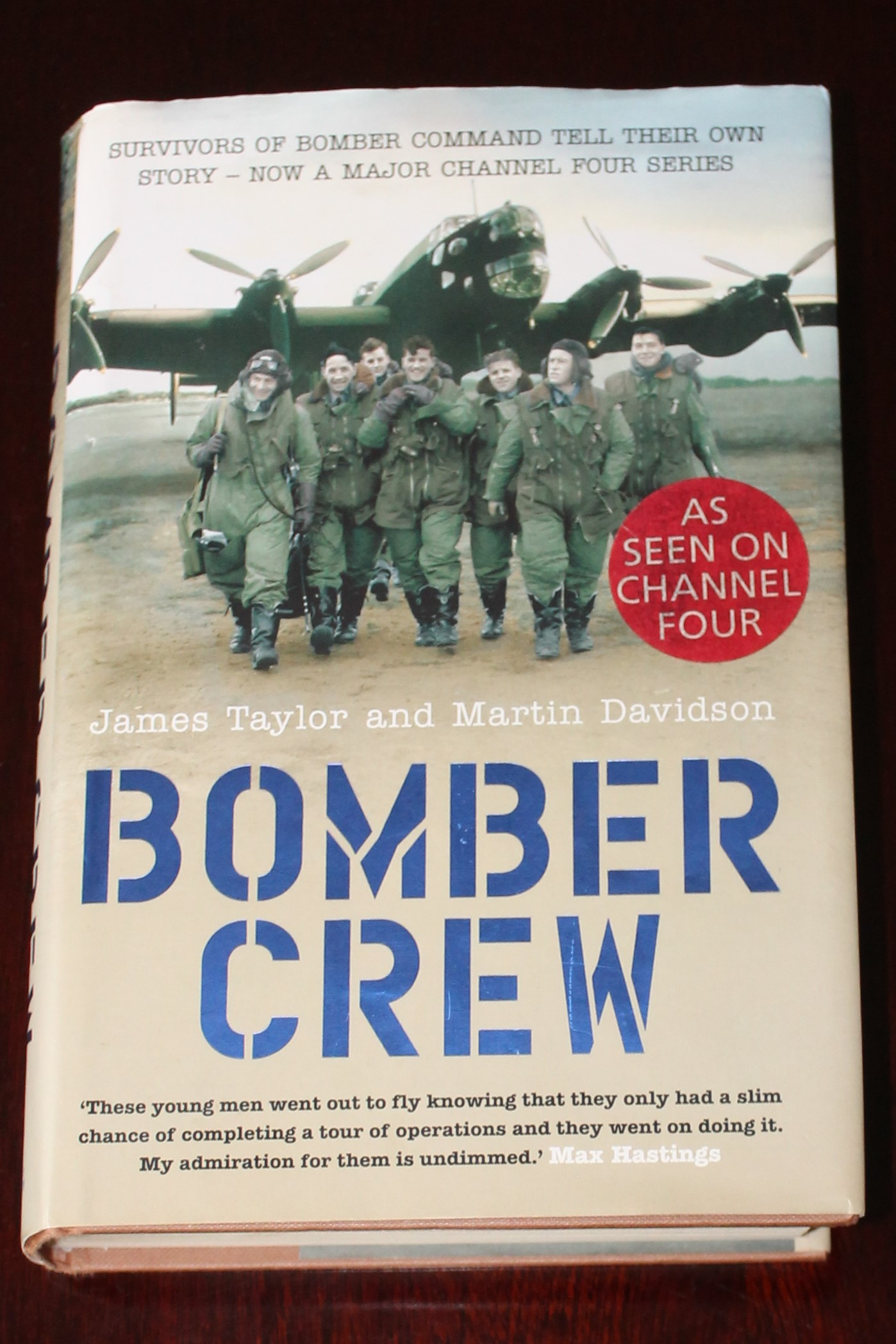 """Bomber Crew"" book signed by Air Commodore Charles Clarke"