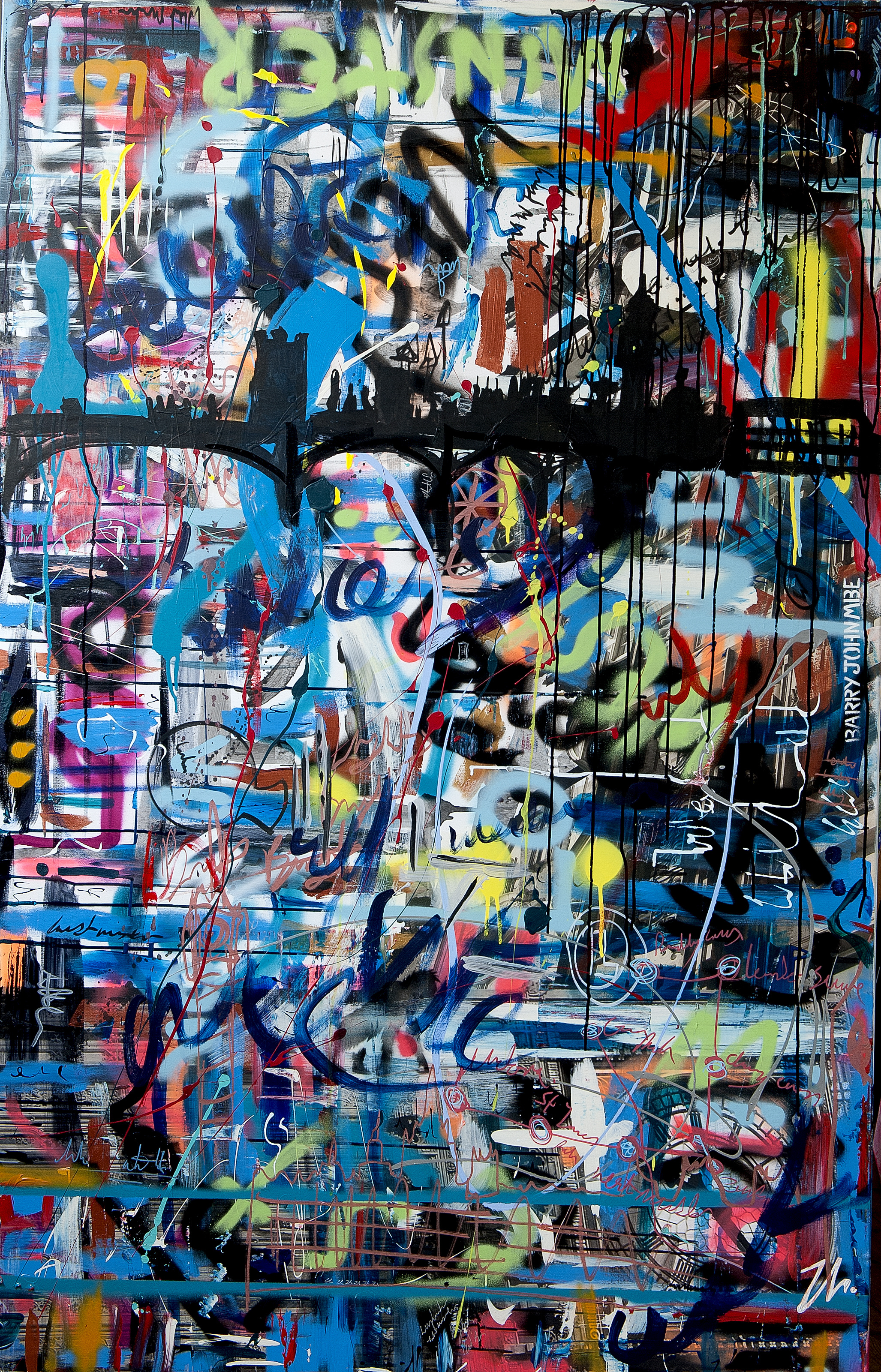 Barry John Art: Dark Graffiti